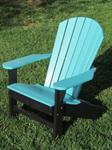 Adirondack Chair, Poly, Aruba Blue and Black