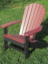 Adirondack Chair, Poly, Cherrywood & Black