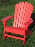 Adirondack Chair, Poly, Red