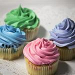 Assorted Colored Cupcakes