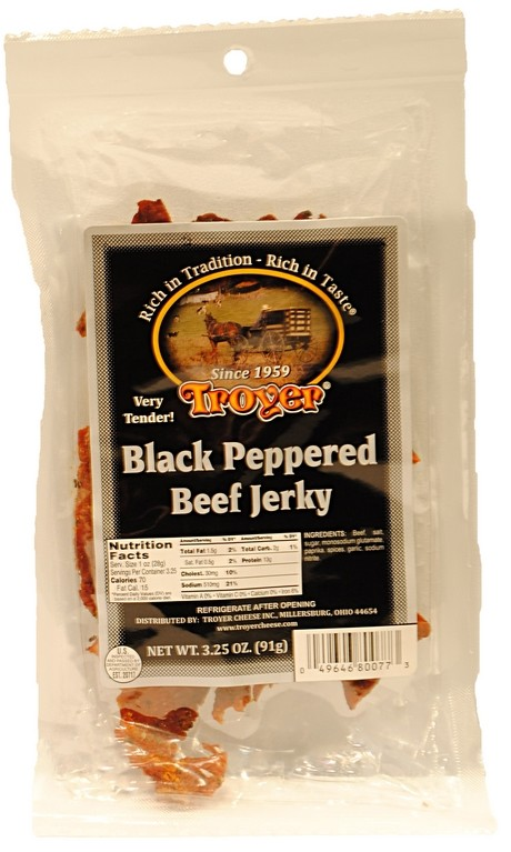 Beef Jerky Black Pepper 3.25oz Troyer