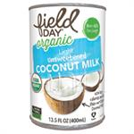 Coconut Milk, Lite Unsweetened Org 13.5
