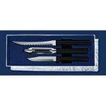 Rada Peel, Pare & Slice Gift Set-Black Handle